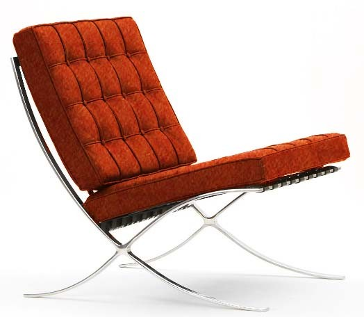 Sillón Barcelona Cashmere (Queen) orange 29