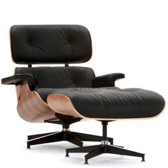 Sillón Eames lounge chair + ottoman ROSEWOOD