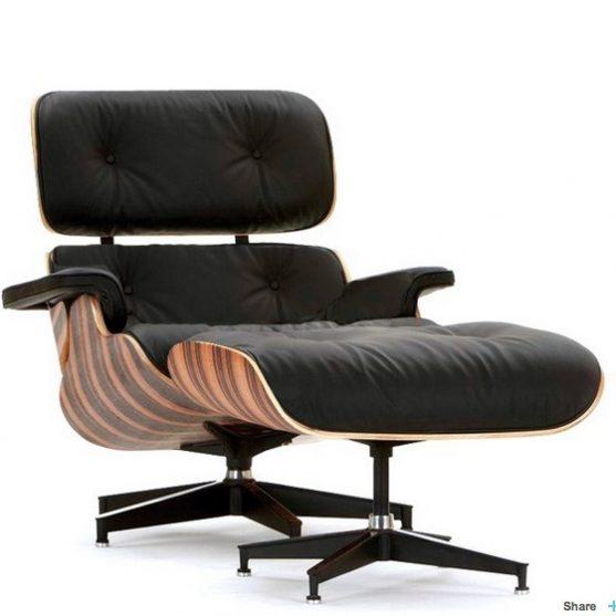 Sillón Eames lounge chair + ottoman PALISANDER
