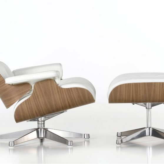 Sillón Eames lounge chair + ottoman (white version)