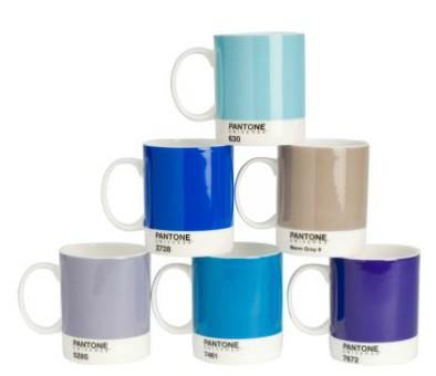Set de 6 tazas Pantone