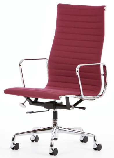 Silla Eames-office-Ribbed (respaldo alto)