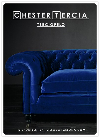 Chesterfield sofa -terciopelo-Tercia