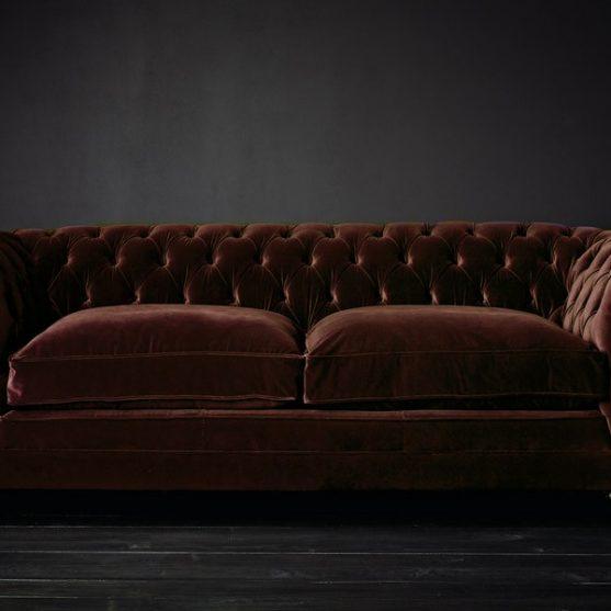 Chesterfield sofa -terciopelo-Tercia
