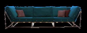 sofa azul diseño