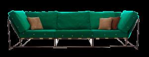 sofa diseño verde