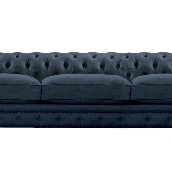 sofa CHESTER 3 PLAZAS indigo blue